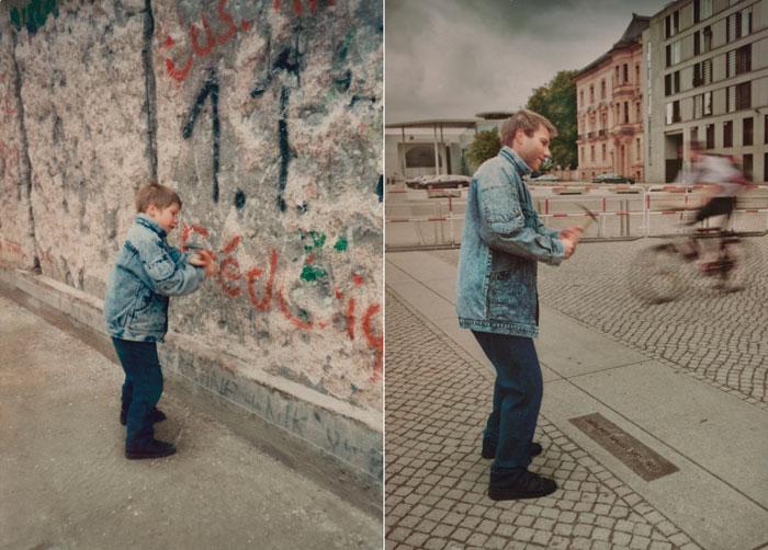 Christoph en 1990 & 2011, Mur de Berlin
