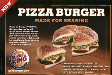 Burger-pizza par Burger King