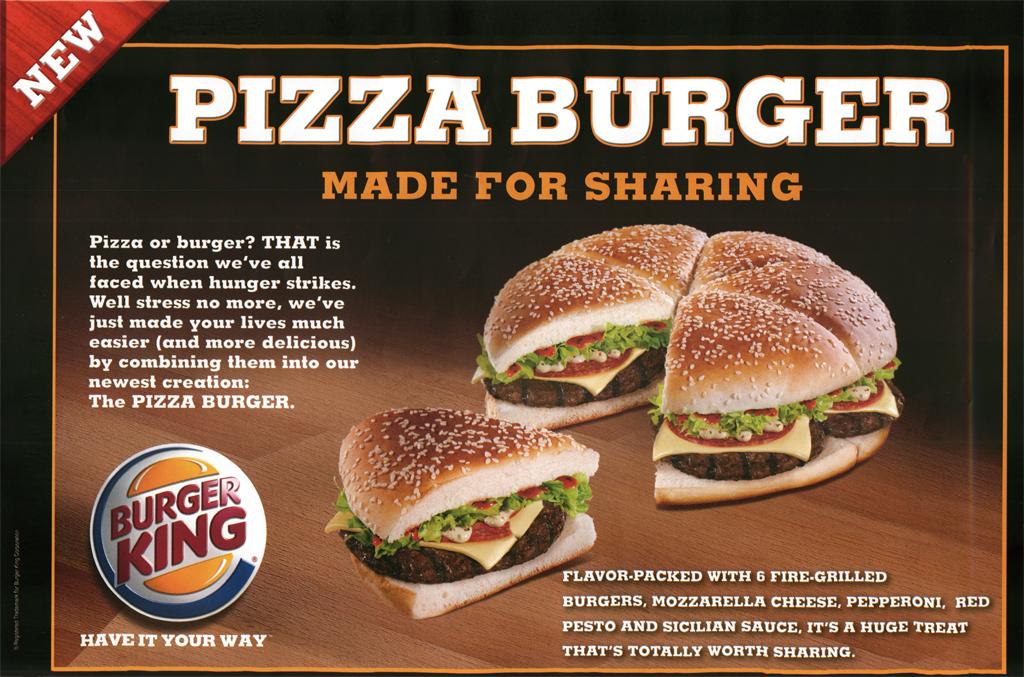 Burger-pizza par Burger King