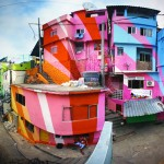 Un arc-en-ciel dans la favela