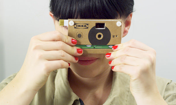 Ikea lance un appareil photo en carton