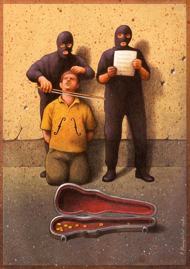 Satirical Illustrations by Pawel Kuczynski 1 Pawel Kuczynski : satire enfantine