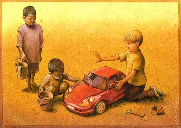Satirical Illustrations by Pawel Kuczynski 13 Pawel Kuczynski : satire enfantine