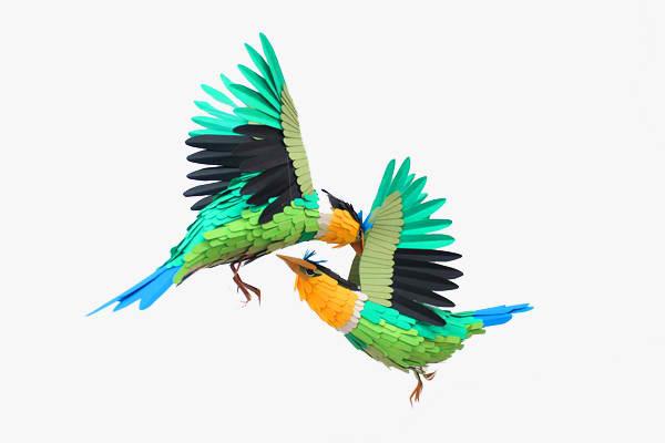 diana beltran herrera 2 Les oiseaux en papier