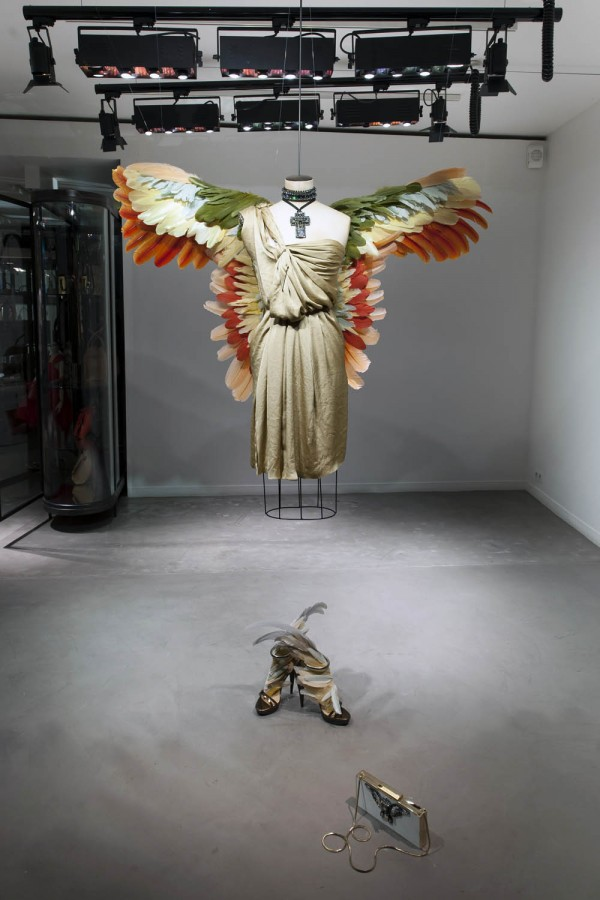 lanvin birds of paradise paris windows 1 600x900 Scnographie Lanvin : la perfection atteinte