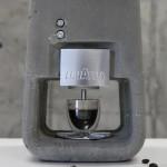 Une machine à café en… Béton