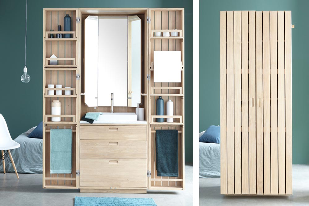 la cabine la salle de bain compacte de line art la. Black Bedroom Furniture Sets. Home Design Ideas