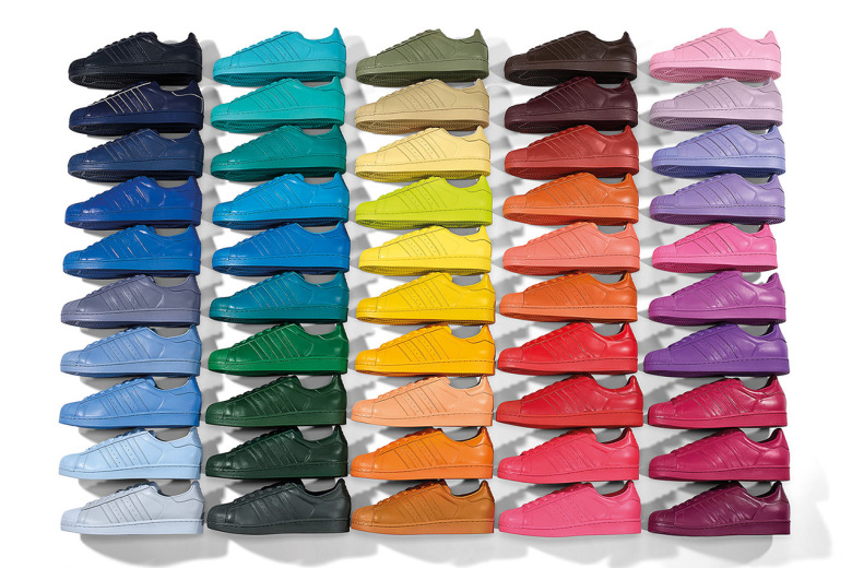 Adidas Originals Superstar Supercolor Pack en collaboration avec Pharrell Williams