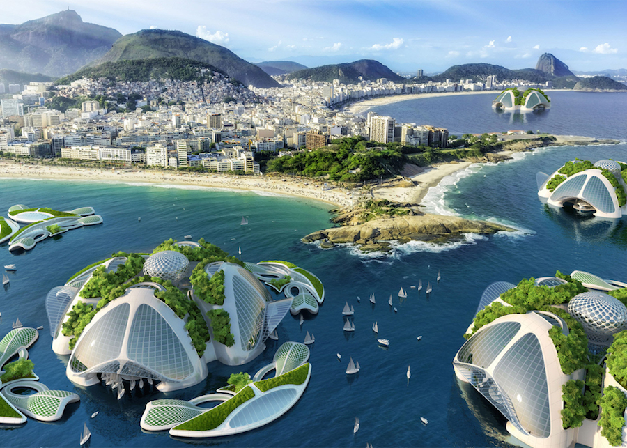Exceptionnel Vincent Callebaut imagine une ville écoresponsable sur l'eau  PO05