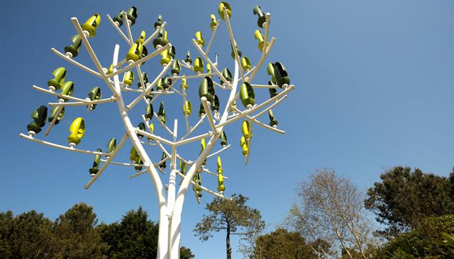 Une olienne r volutionnaire en forme d 39 arbre spanky few culture amp - Mini eolienne verticale ...