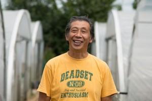 Asafumi Yamashita, maraîcher japonais dans les Yvelines.